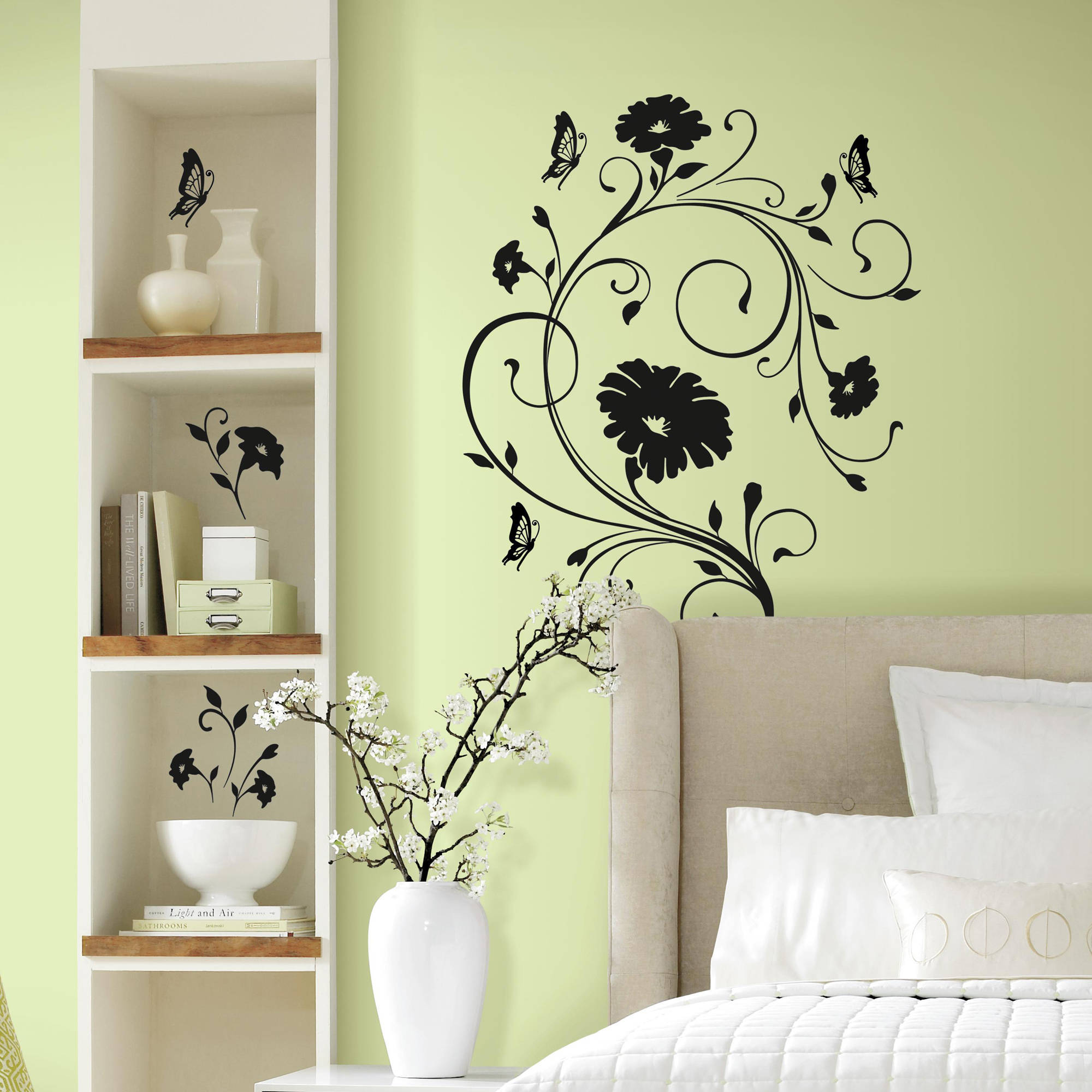 RoomMates Floral Vine Peel and Stick Giant Wall Decals