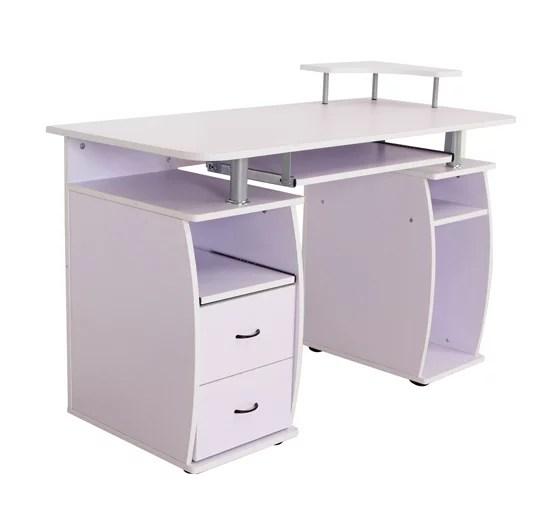 HomCom Home Office  Dorm Computer Desk w Elevated Shelf