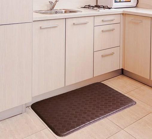 memory foam kitchen mats single handle faucet repair anti slip and fatigue comfort mat brown walmart com