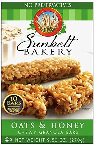 Sunbelt Bakery Oat and Honey Chewy Granola Bars 10 oz