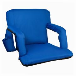 Stadium Chairs For Bleachers With Arms Shaw Walker Chair Alpcour Reclining Seat Armrests And Side Pockets Blue Portable Backs Durable Waterproof Padded Cushion