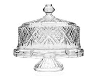 Shannon 4-in-1 Footed Leaded Crystal Cake Plate with ...