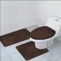 3-Piece Quinn Solid Bathroom Rug Set Bath Mat Contour ...