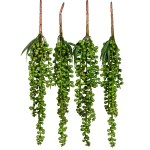 Artificial Hanging Plants Fake Succulents String Of Pearls Fake Hanging Basketplant Lover S Tears Succulent Branch For Home Kitchen Office Garden Wedding Decor 4pc Walmart Com Walmart Com