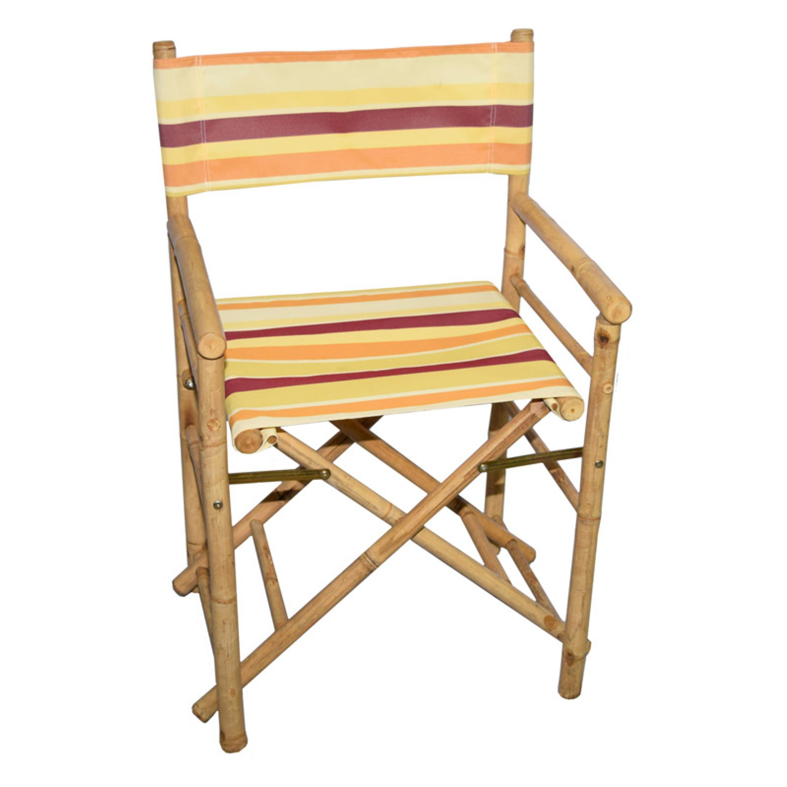 bamboo directors chairs minnie mouse for kids bamboo54 folding low chair with canvas cover set of 2 walmart com