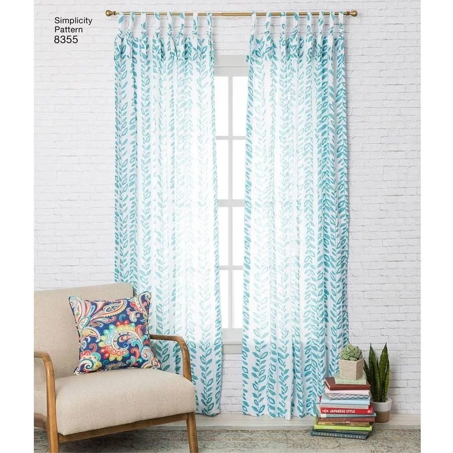 simplicity home decor window curtain pattern 1 each