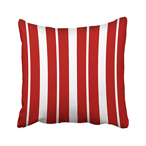 winhome square throw pillow covers vintage nautical red and white striped pillowcases polyester 18 x 18 inch with hidden zipper home sofa cushion