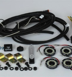 kc hilites 91020 cyclone led rock light kit clear 4 pc incl cyclone lights hi capacity busbar deluxe wiring harness mounts w complete installation  [ 1500 x 1000 Pixel ]