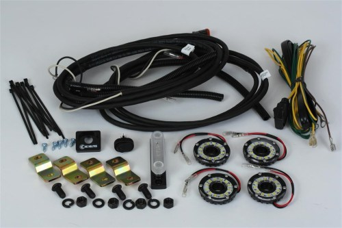 small resolution of kc hilites 91020 cyclone led rock light kit clear 4 pc incl cyclone lights hi capacity busbar deluxe wiring harness mounts w complete installation