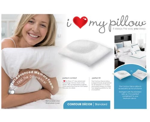 i love my pillow traditional standard