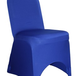 Royal Blue Chair Covers Gym Malaysia Ycc Linens 6 Pack Stretch Spandex Banquet Walmart Com