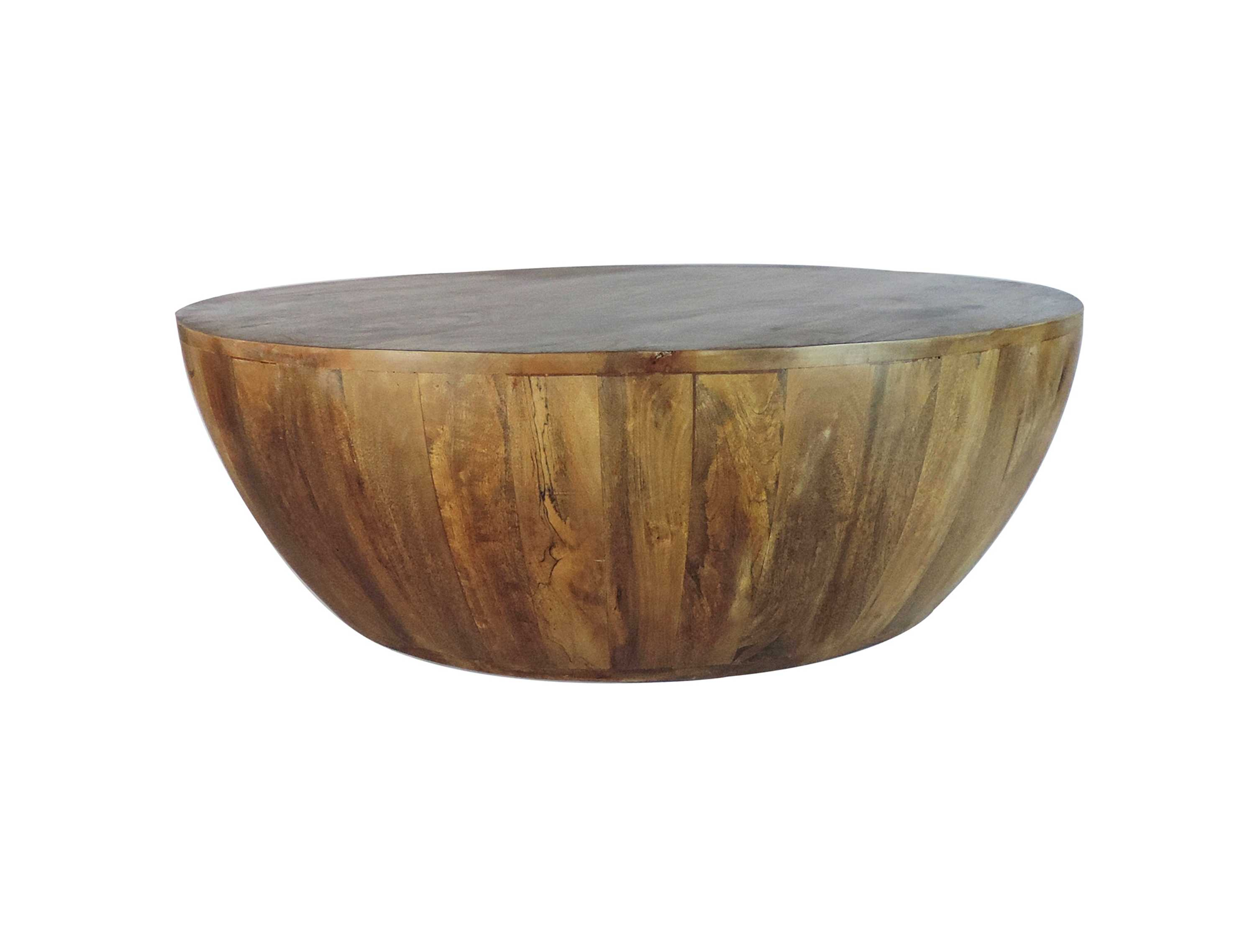 the urban port coffee table in round shape with distressed finish walmart com