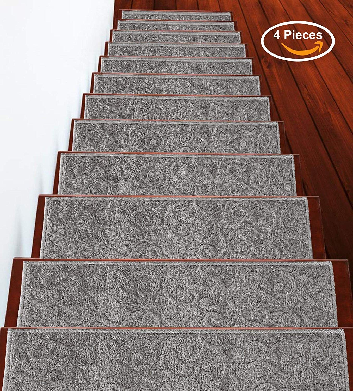 Sussexhome Stair Runner Carpet Stair Treads Carpet Stair Tread   High Traffic Carpet For Stairs   Traditional   Textured   Family Room   Middle Open Concept   Runners