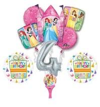 New! 9pc Disney Princess 4th BIRTHDAY PARTY Balloons ...