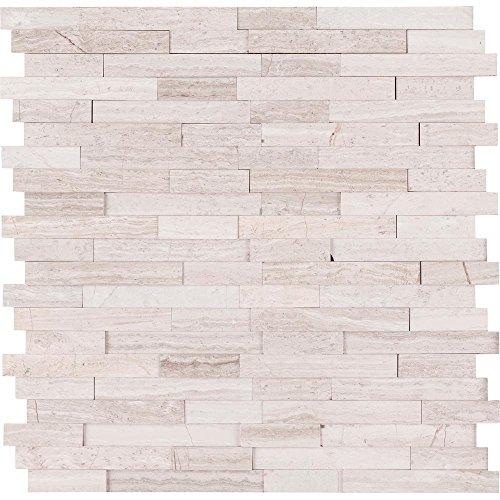 vogue peel stick light athens gray honed brick pattern mosaics for kitchen backsplashes wall fireplace tile 5