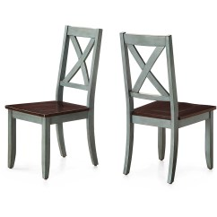 Distressed Dining Chairs Teal Blue Chair Sashes Better Homes And Gardens Maddox Crossing Set Of 2 Walmart Com