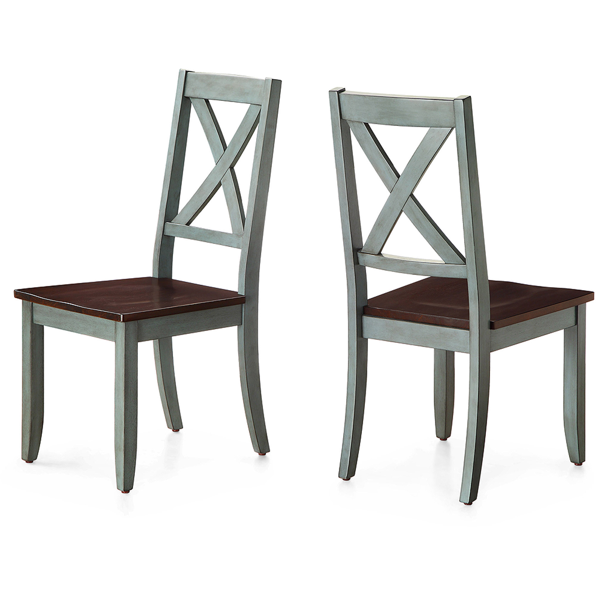 Dining Chair Set Of 2 Better Homes And Gardens Maddox Crossing Dining Chair Blue Set Of 2