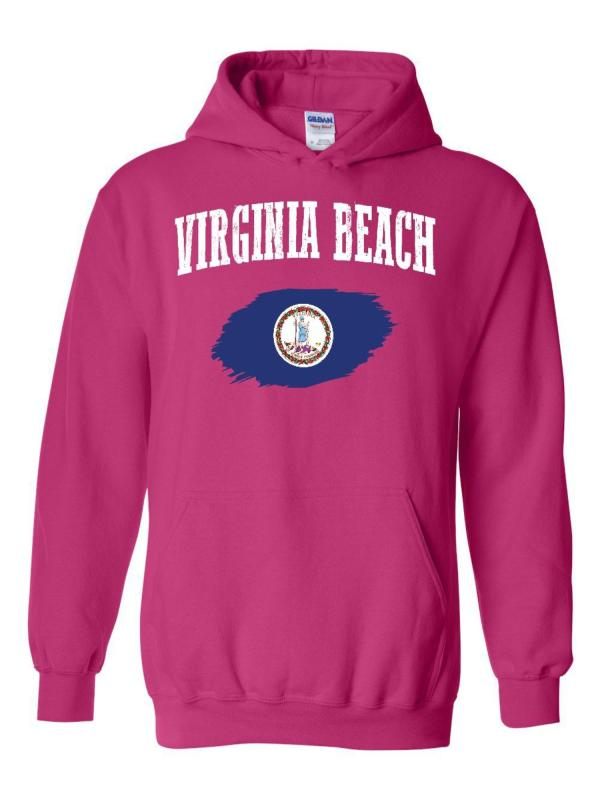 Virginia Beach Unisex Hoodie Hooded Sweatshirt