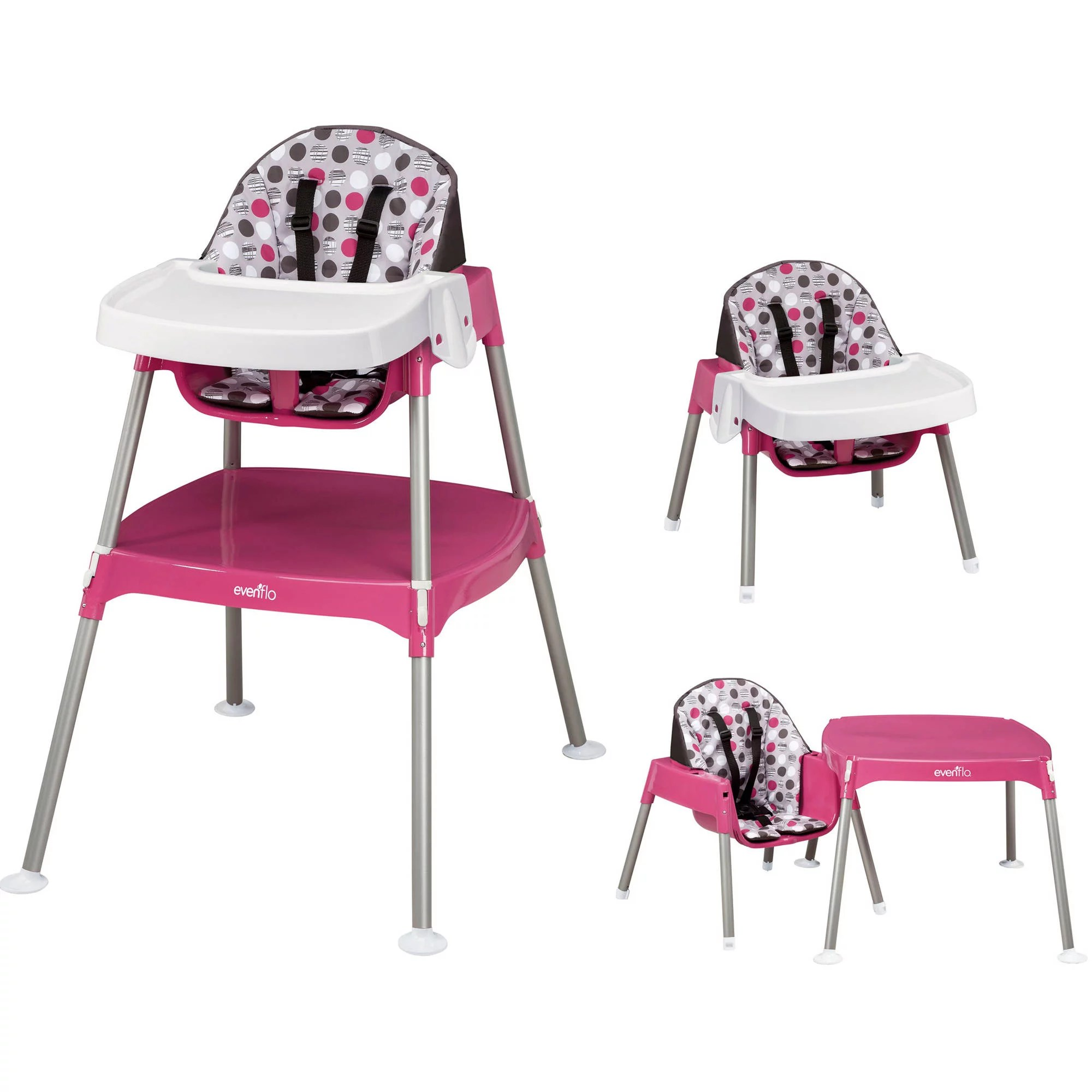 baby chairs at walmart steel chair gold evenflo 3 in 1 convertible high dottie rose com