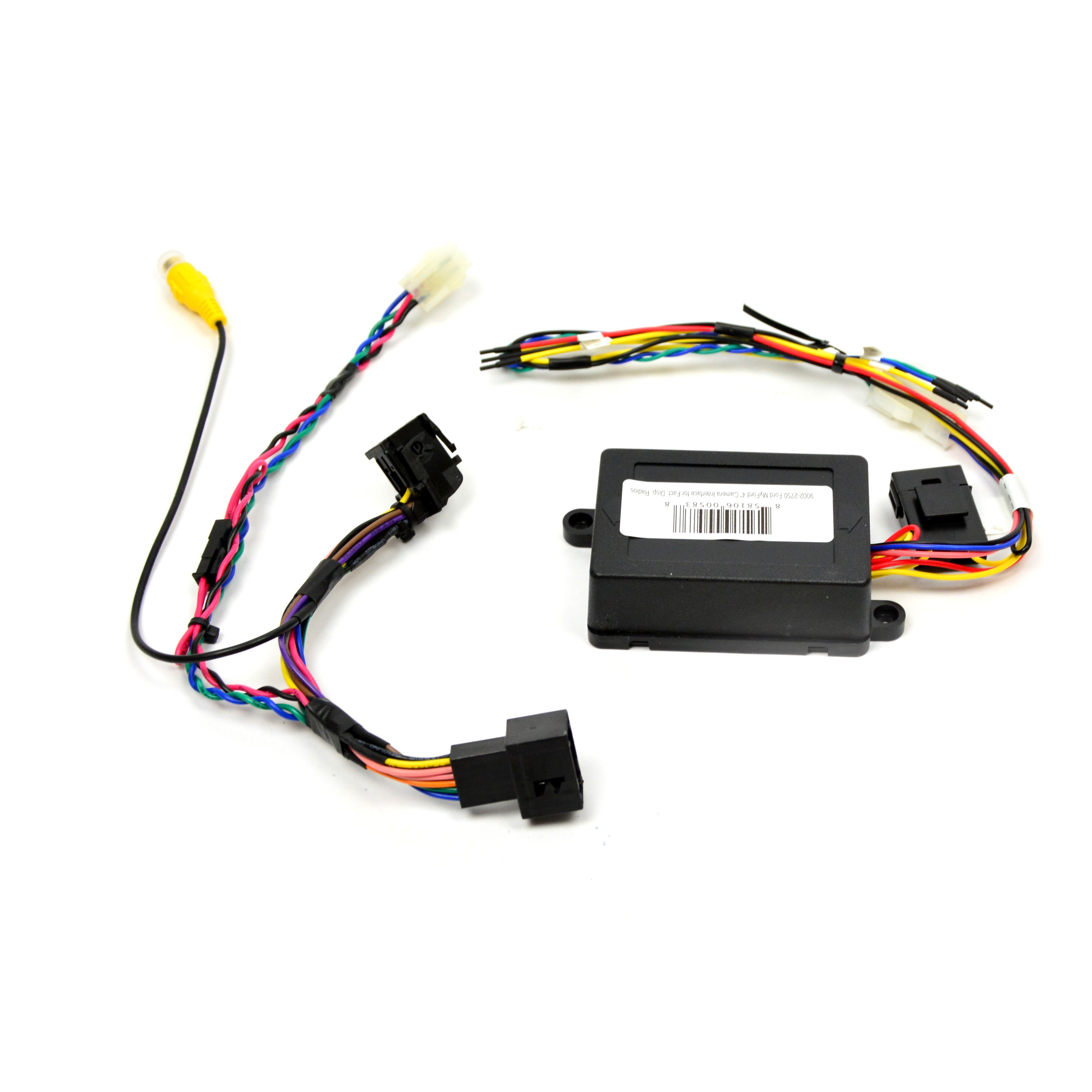 brandmotion 9002 2750 backup camera interface for integrate rear view camera to ford 4 inch factory display with 4 pin connector harness to module harness  [ 3568 x 3568 Pixel ]