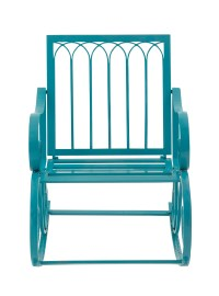 Decmode Metal Rocking Chair, Turquoise
