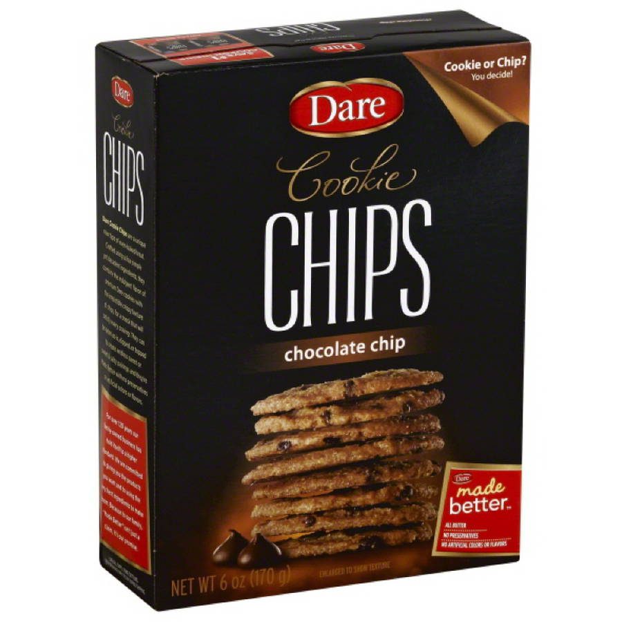Dare Chocolate Chip Cookie Chips 6 oz Pack of 12