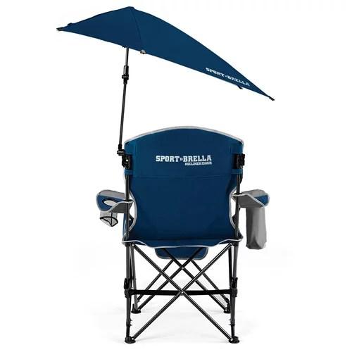 super brella chair folding with table sport recliner midnight blue walmart com