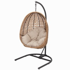 Hanging Chair Cheap Leather Dining Chairs Modern Outdoor Walmart Com Product Image Better Homes Gardens Lantis Patio Wicker With Stand And Beige Cushion