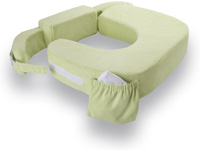 my brest friend twin nursing pillow deluxe slipcover pillow not included green