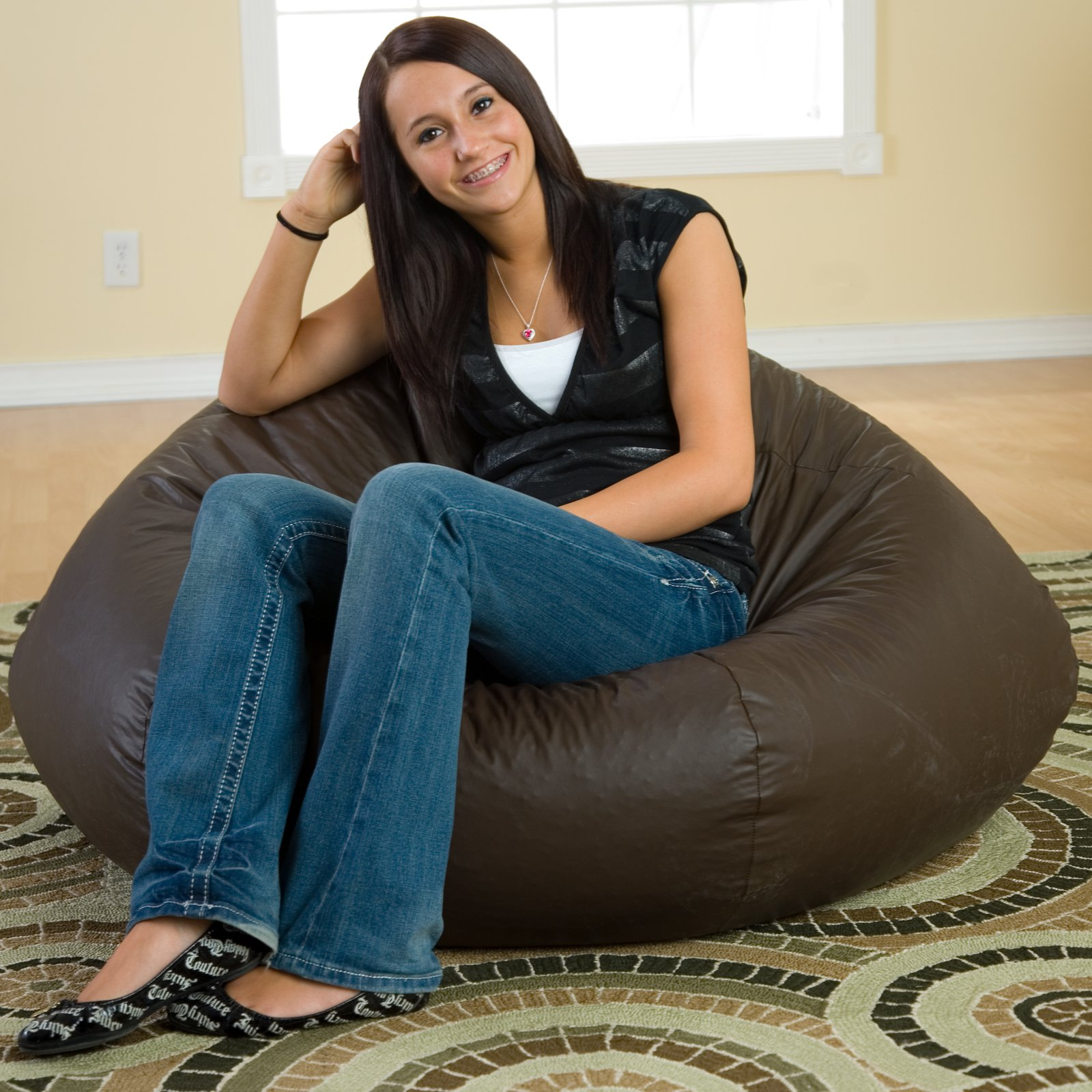 Vinyl Bean Bag Chairs Gold Medal Extra Large 140
