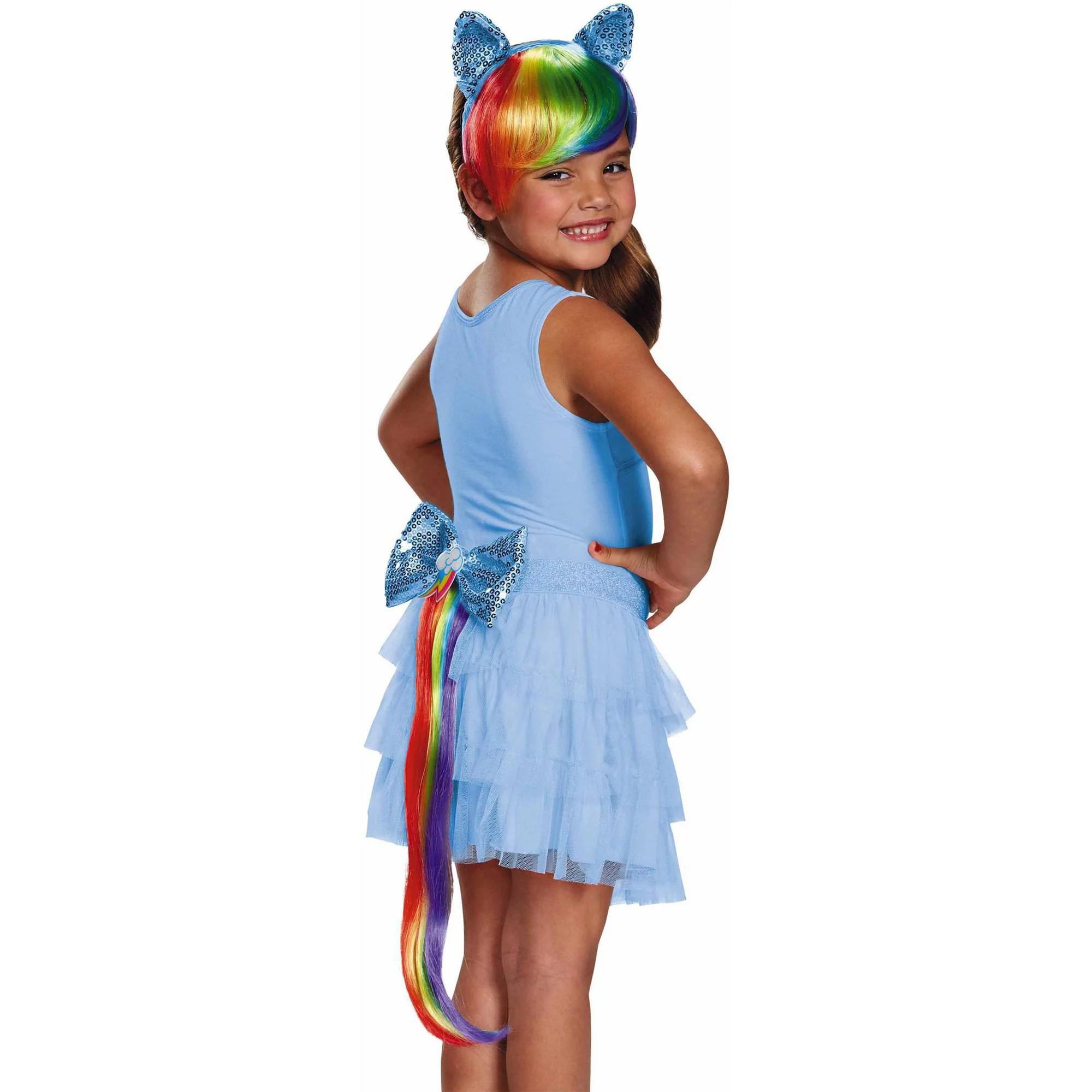 My Little Pony Rainbow Dash Headpiece And Tail Halloween