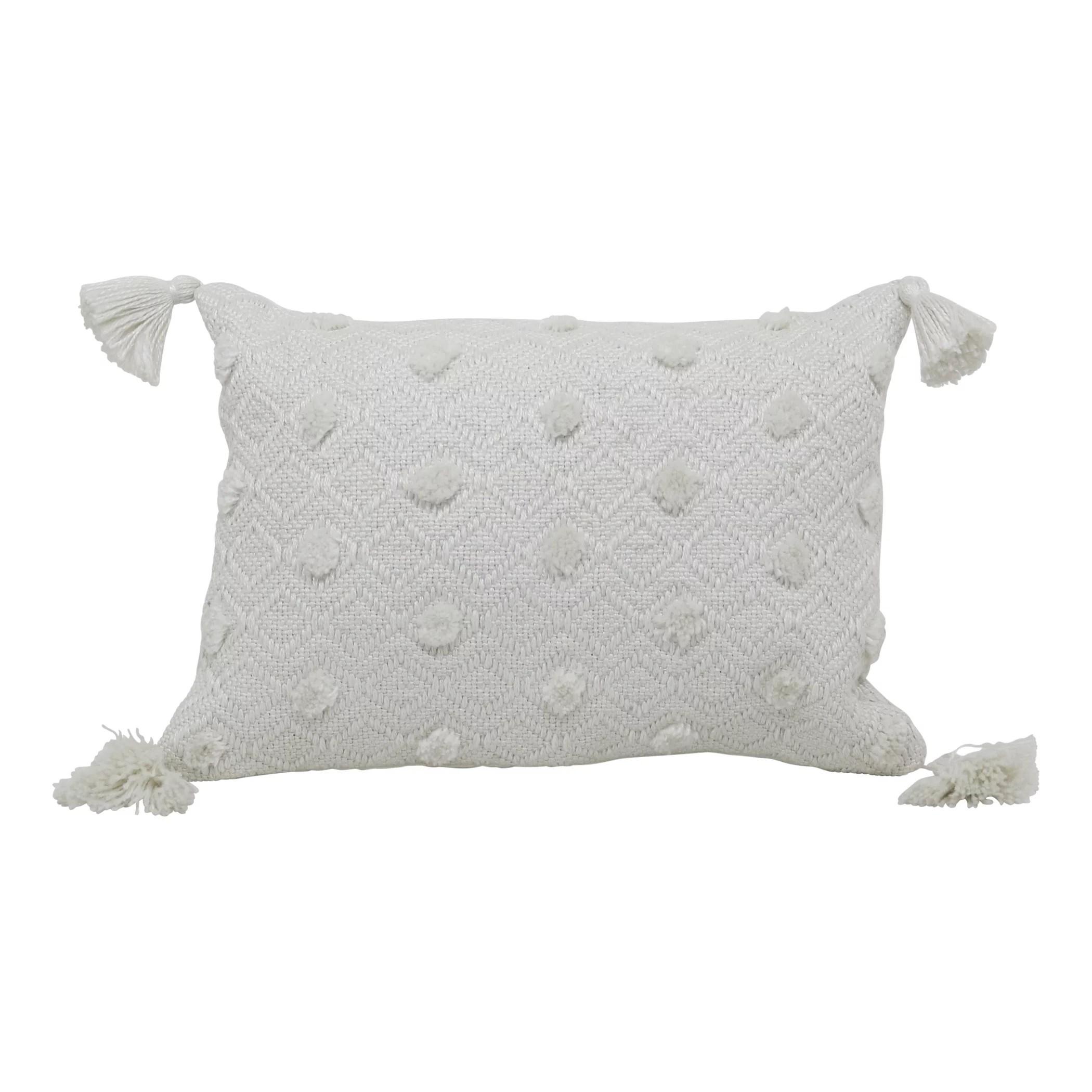 better homes gardens 13 x 19 outdoor toss pillow ivory woven