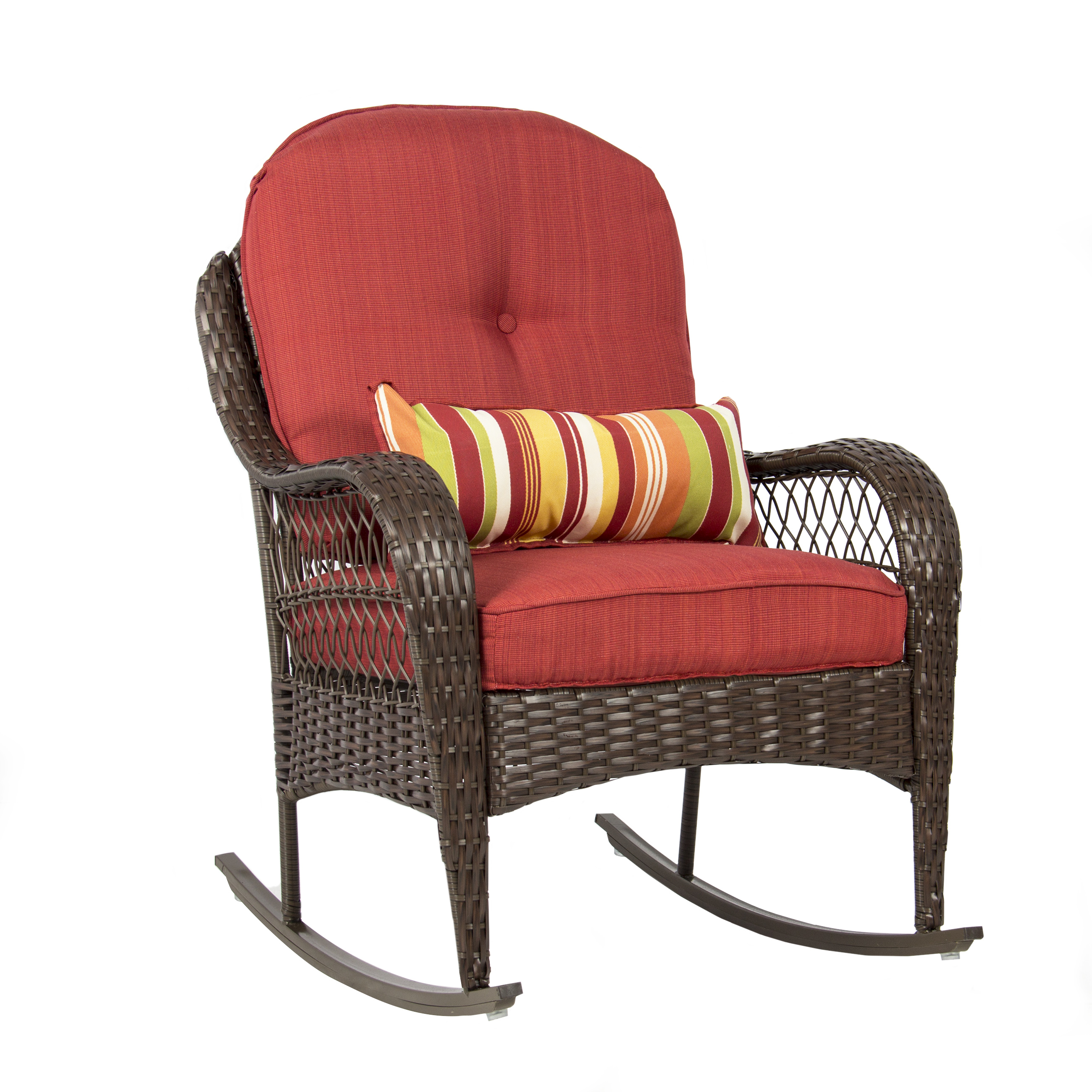 walmart rocking chair glider revolving base price in india best choice products wicker patio porch deck all weather proof w cushions com