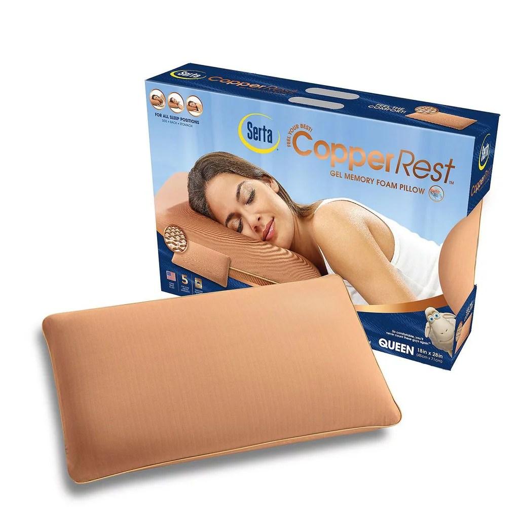 Serta CopperRest Gel Memory Foam Pillow  Walmartcom