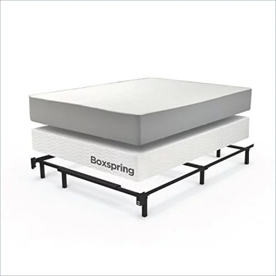 Zinus Compack Adjule Steel Bed Frame For Box Spring Mattress Set Twin