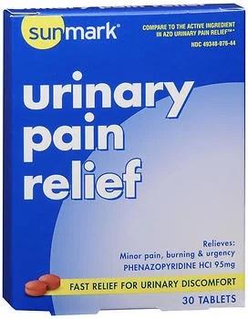Sunmark Urinary Pain Relief Tablets - 30 Tablets - Walmart.com