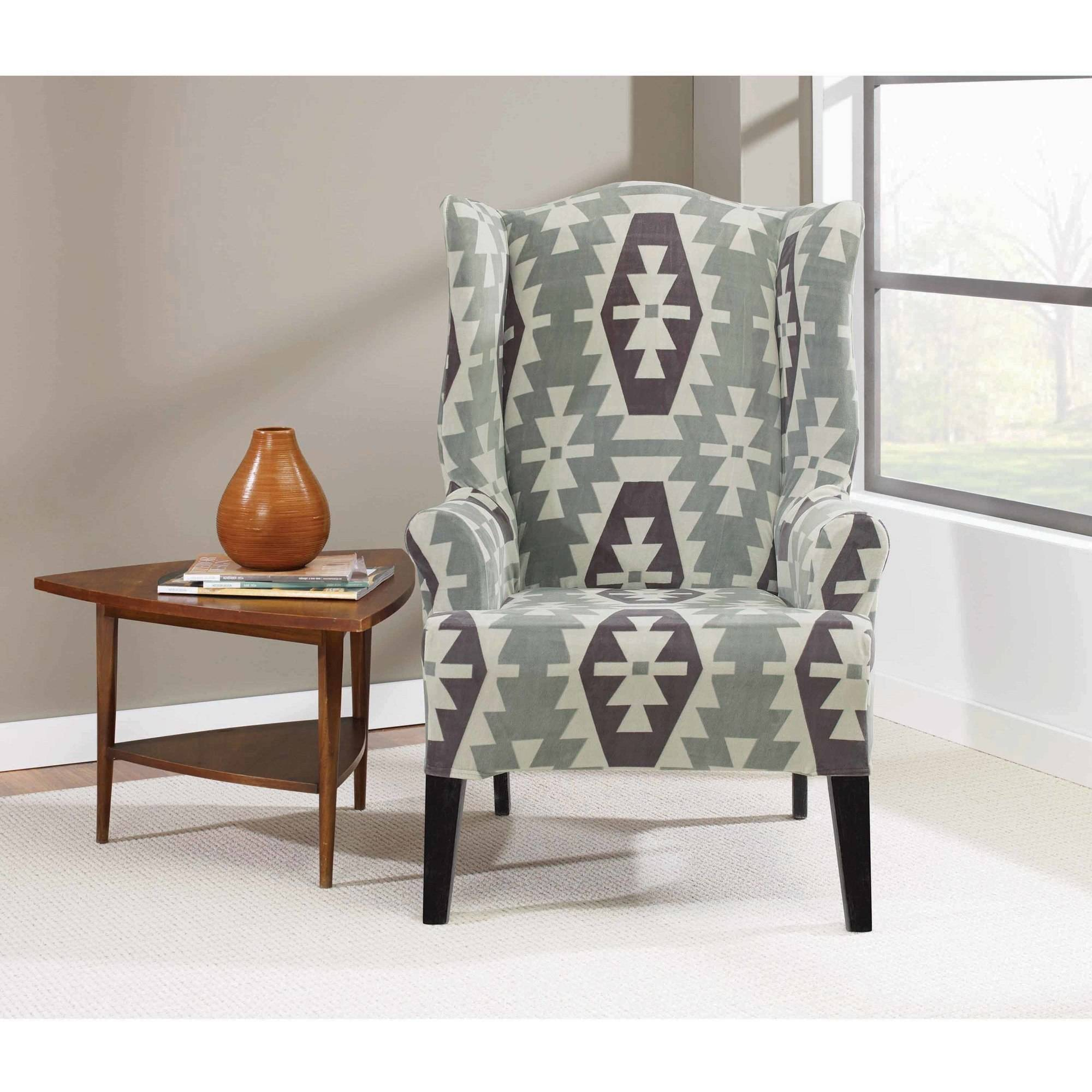 sure fit wing chair slipcover dining chairs home goods stretch kilim walmart com departments