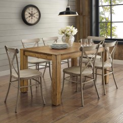 Dining Table With Metal Chairs Flip Flop Chair Better Homes Gardens Bryant Multiple Finishes Walmart Com