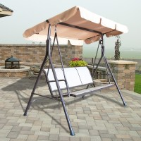 Outdoor 3 Person Canopy Swing Glider Hammock Patio ...