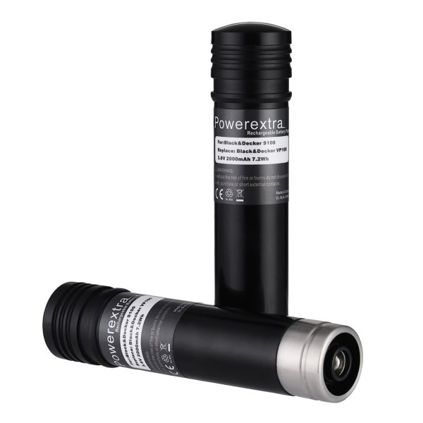 Powerextra 2-pack 3000mah 3.6v Replacement Battery Black & Decker Versapak Power Drills