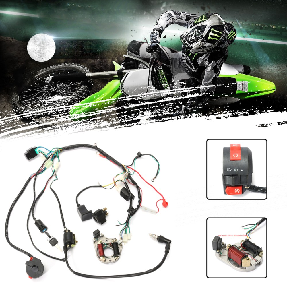 medium resolution of 1 set wire harness wiring cdi assembly for motorcycleaccessorie 50 70 90 110cc 125cc atv quad coolster go kart walmart com