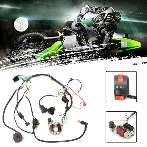 small resolution of 1 set wire harness wiring cdi assembly for motorcycleaccessorie 50 70 90 110cc 125cc atv quad coolster go kart walmart com