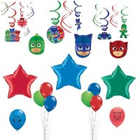 PJ Masks Party Supplies Birthday Party Swirls and Balloon ...