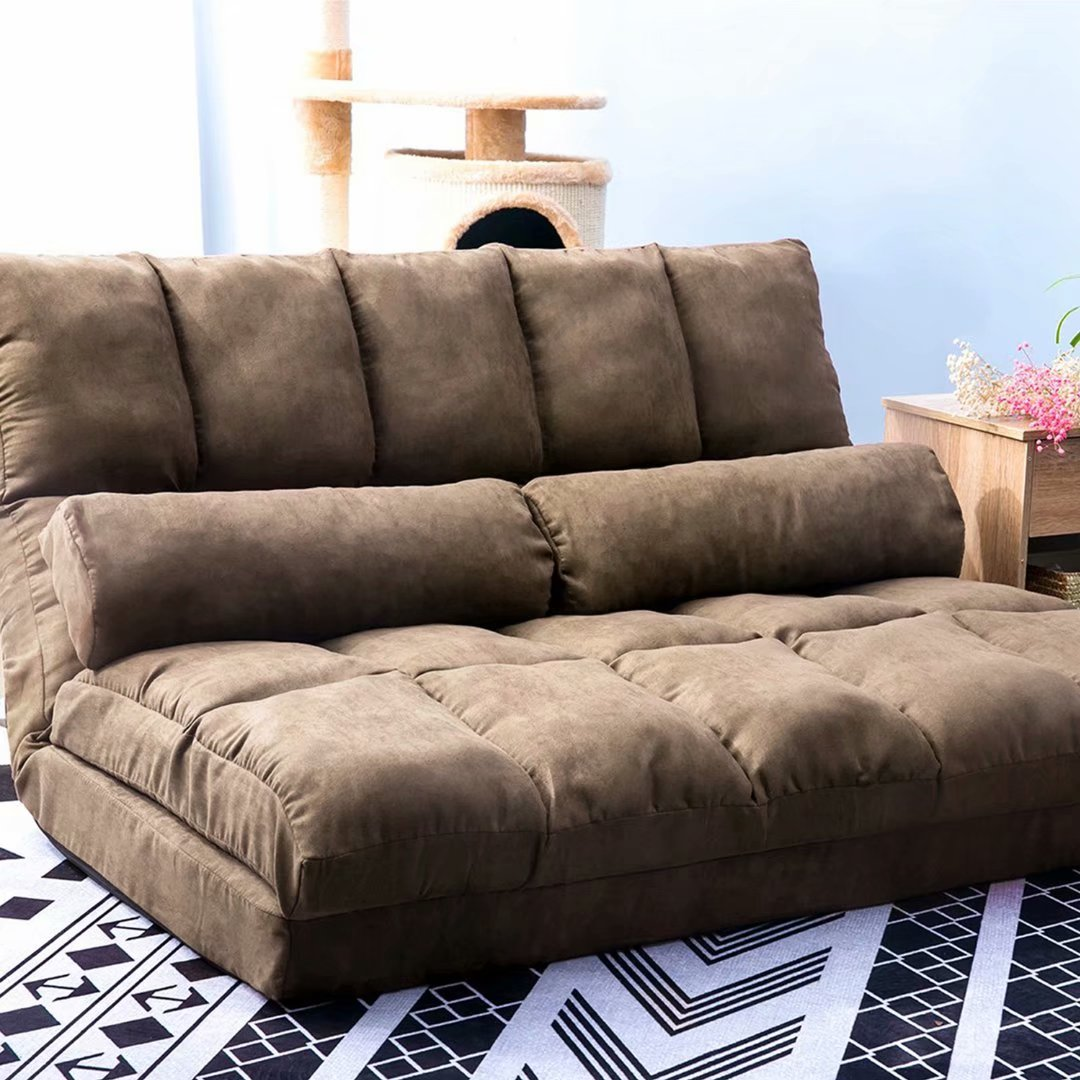Lounge Couch Double Chaise Lounge Sofa Chair Floor Couch With Two ...