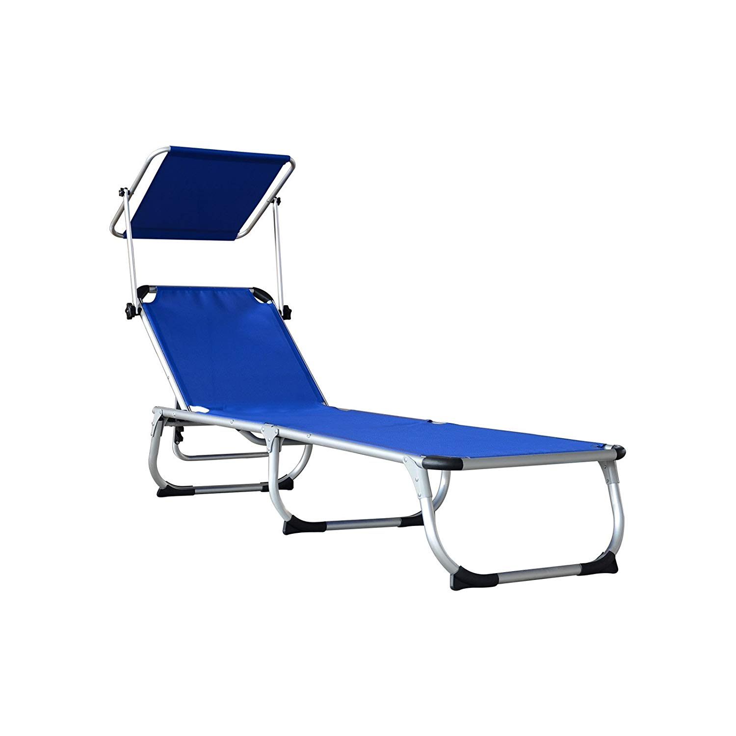 outdoor folding lounge chairs best dxracer chair orno ttobe relaxer bed with sun shade portable walmart com