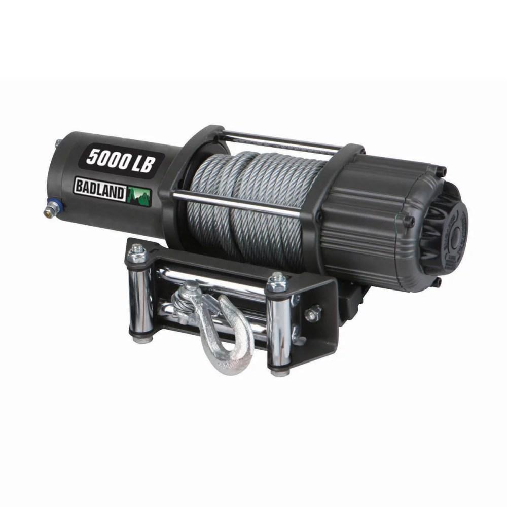 medium resolution of badland electric winch 5000 lb atv utility automatic load holding brake 61384 walmart com