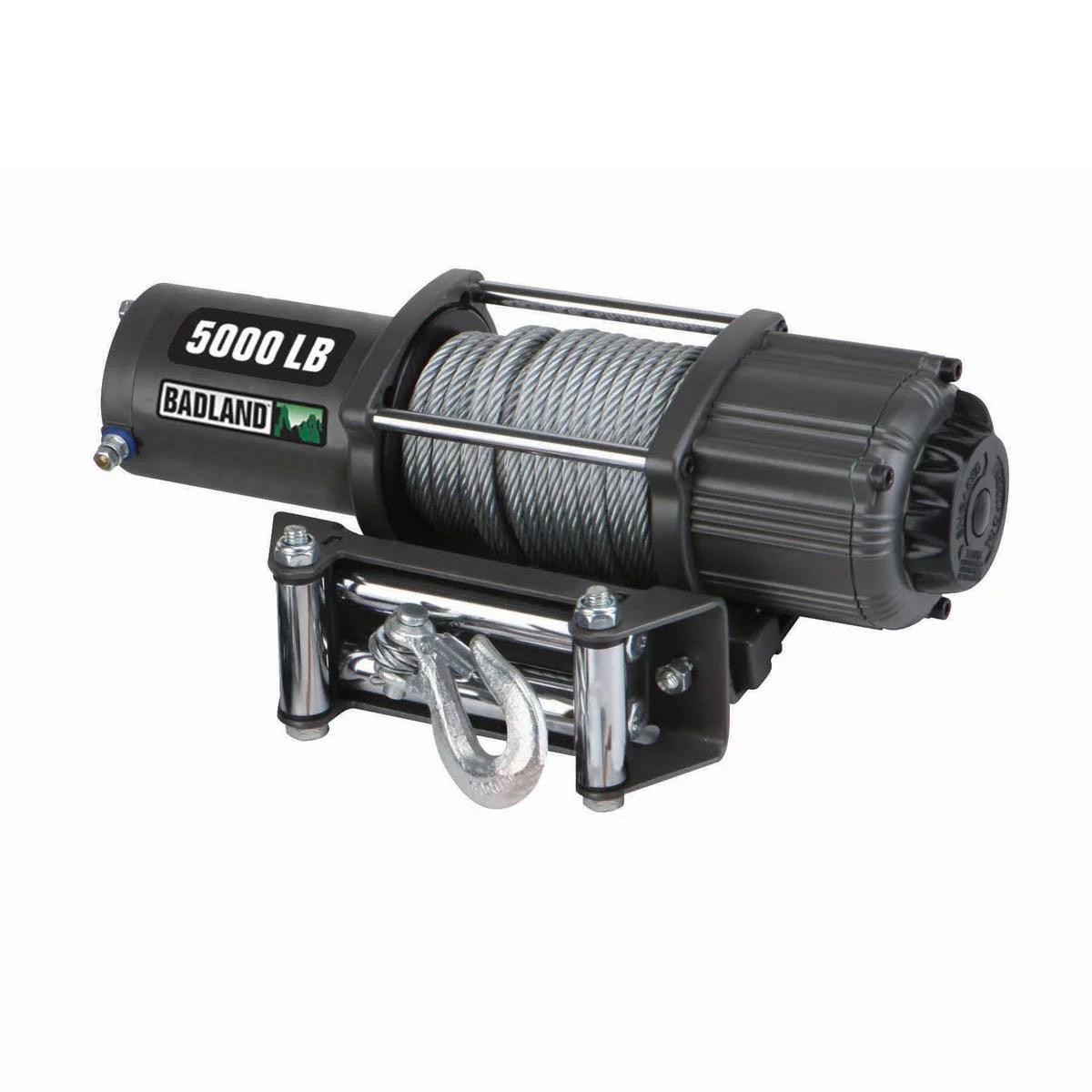 hight resolution of badland electric winch 5000 lb atv utility automatic load holding brake 61384 walmart com