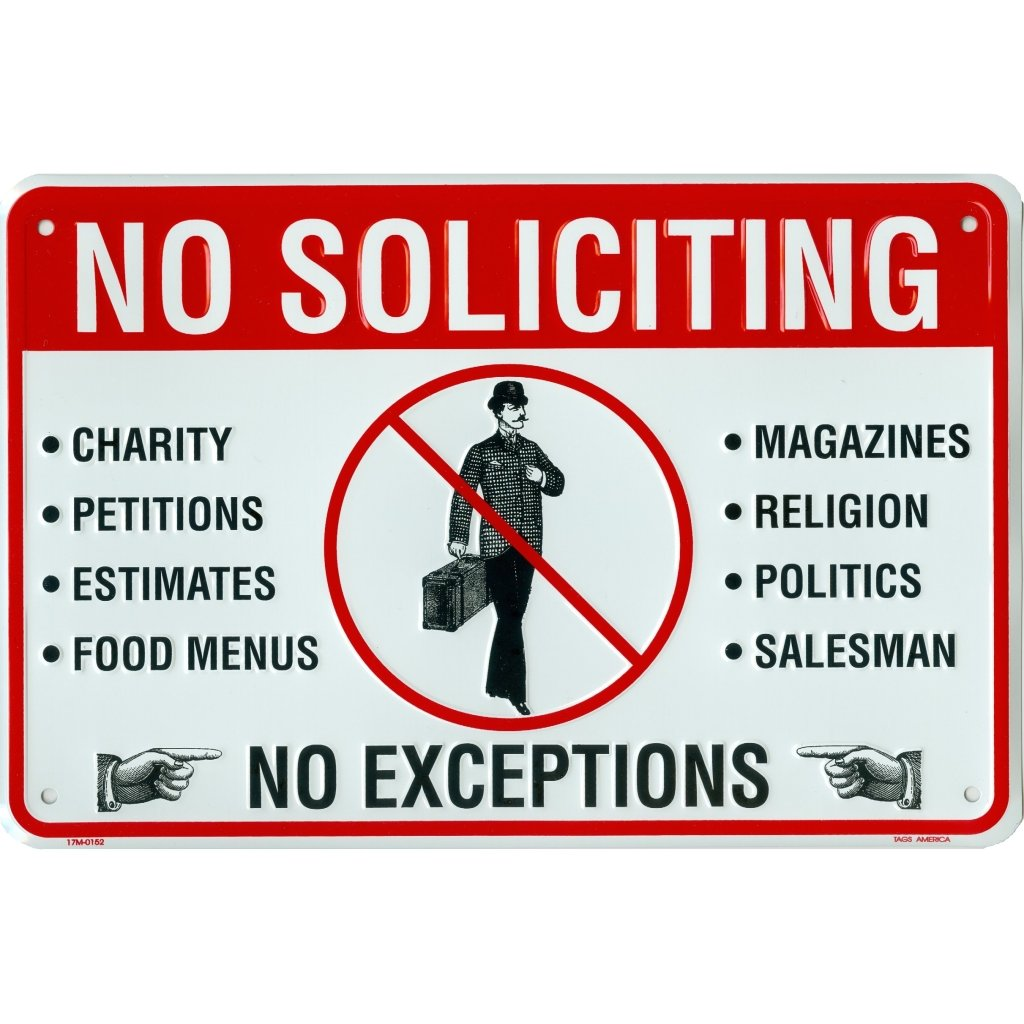 Tags America No Soliciting Sign Metal Yard Sign For House Home Or Business 8 X 12 Inch Rust Free Aluminum Easy Mount On Door Fence Gate Or Building Walmart Com Walmart Com