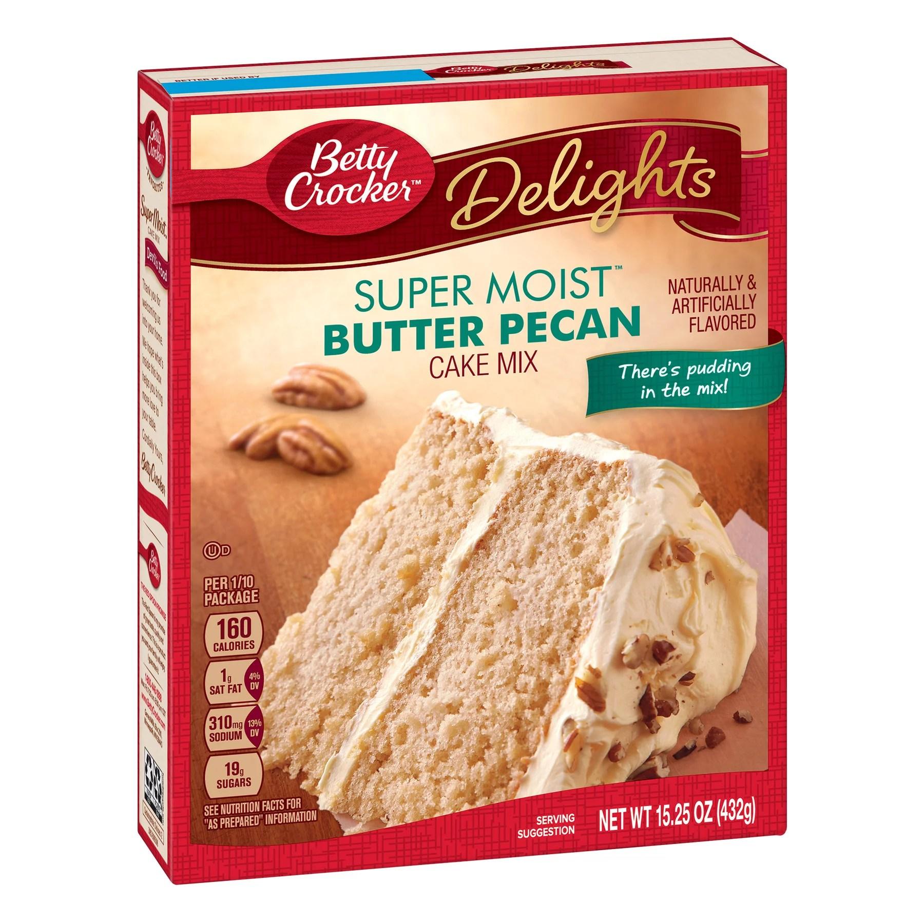 Betty Crocker Super Moist Butter Pecan Cake Mix 15 25 Oz