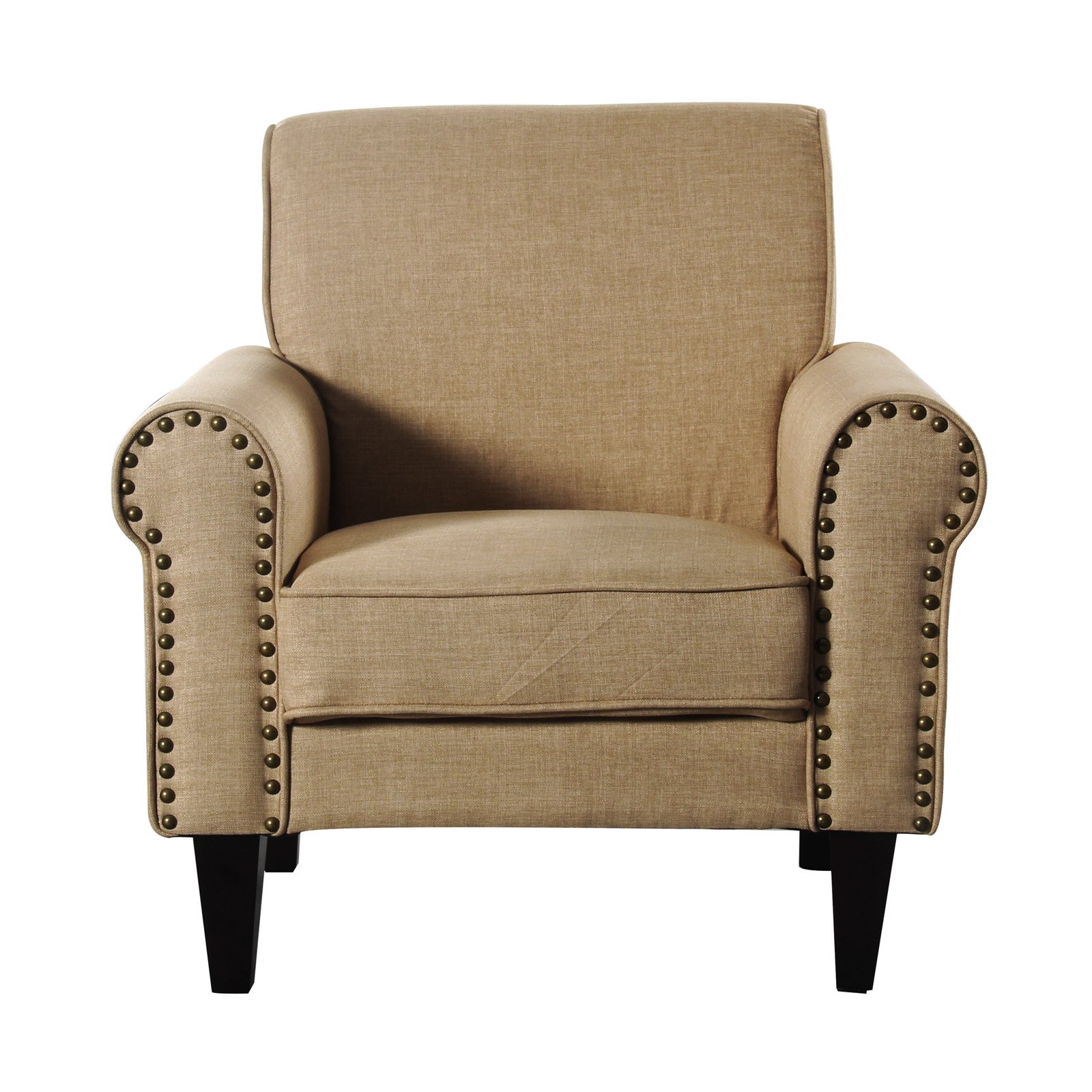 upholstered chair with nailhead trim modern arm incadozo accent